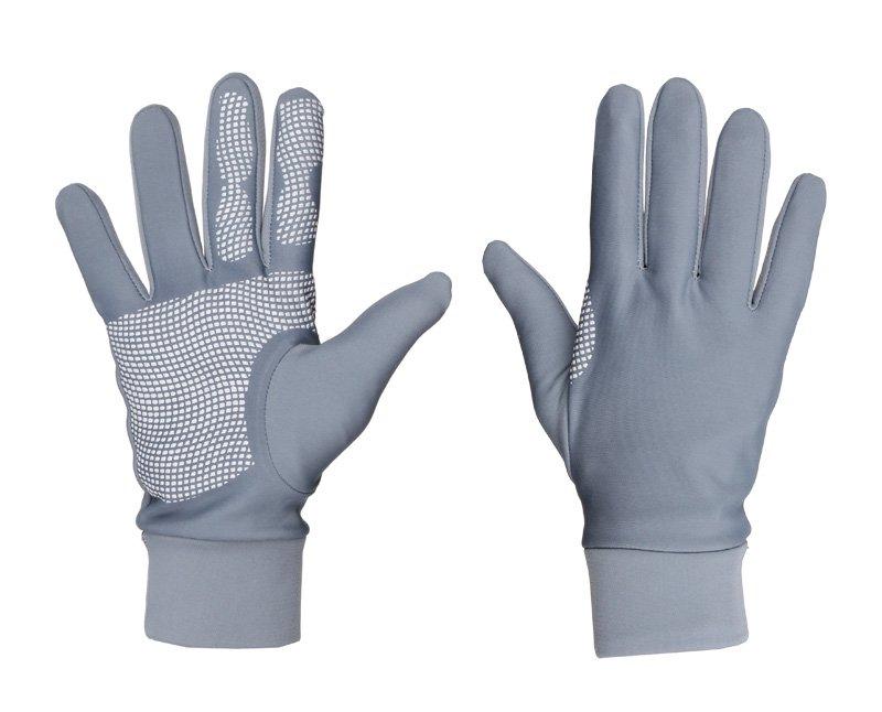 Šedé zimní pánské nebo dámské běžecké rukavice Merco