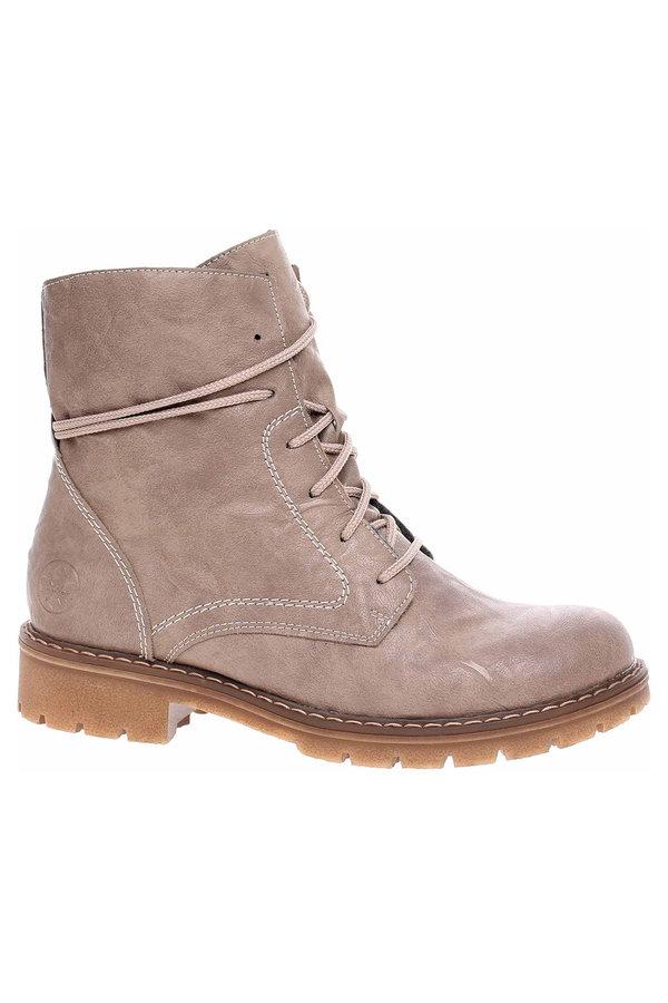Hnědé dámské kotníkové boty Rieker
