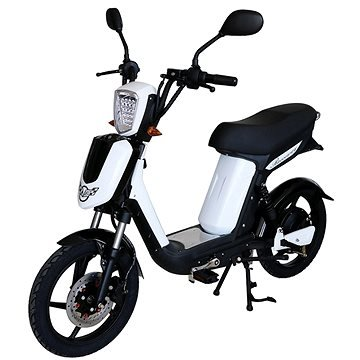 Bílý elektromotocykl E-Babeta, Racceway