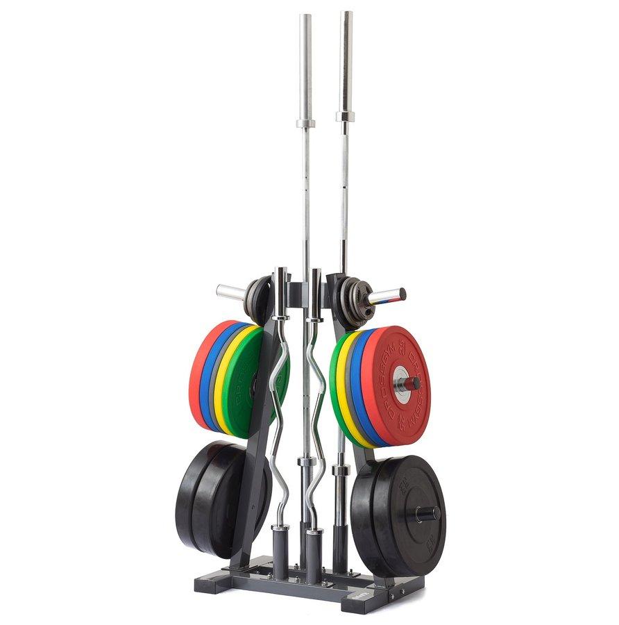 Stojan na závaží - Stojan na olympijské kotouče a osy TRINFIT Rack Olympic A + zajištění servisu u Vás doma ZDARMA
