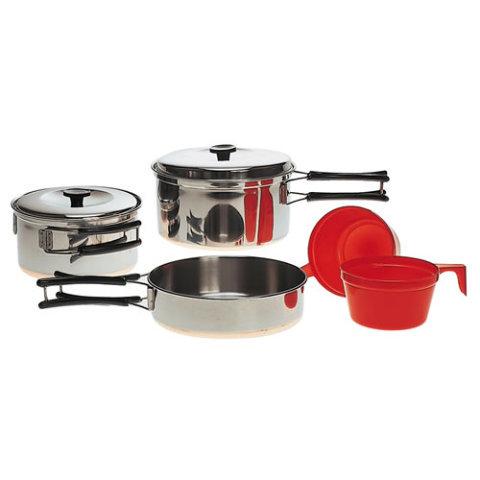 Kempingové nádobí - Nádobí jídelní STAINLESS STEEL pro 2 osoby
