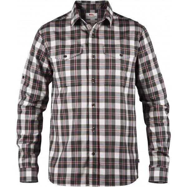 Bílo-šedá pánská košile s dlouhým rukávem Fjällräven - velikost S