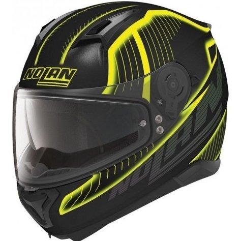 Černo-žlutá unisex helma na motorku N87 Harp N-Com, Nolan - velikost 55-56 cm