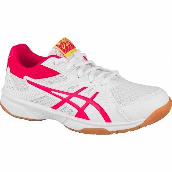 Bílo-růžové dívčí boty na volejbal Asics
