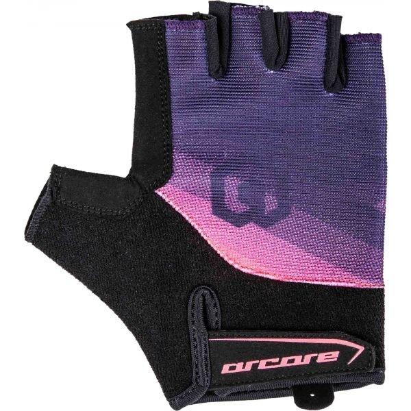 Černo-fialové dámské cyklistické rukavice Arcore