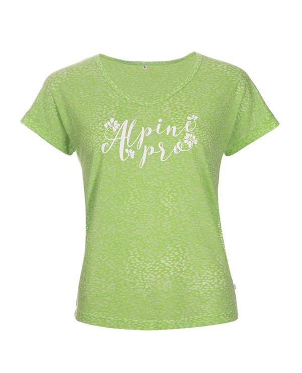 Zelené dámské tričko s krátkým rukávem Alpine Pro