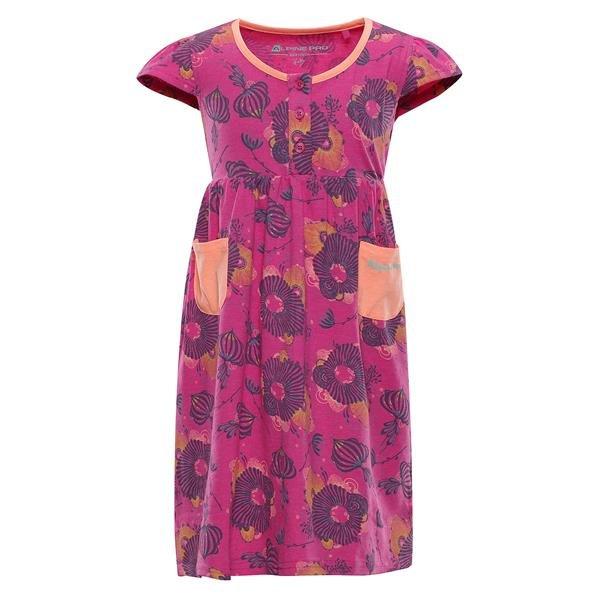 Růžové dívčí šaty Alpine Pro - velikost 92-98