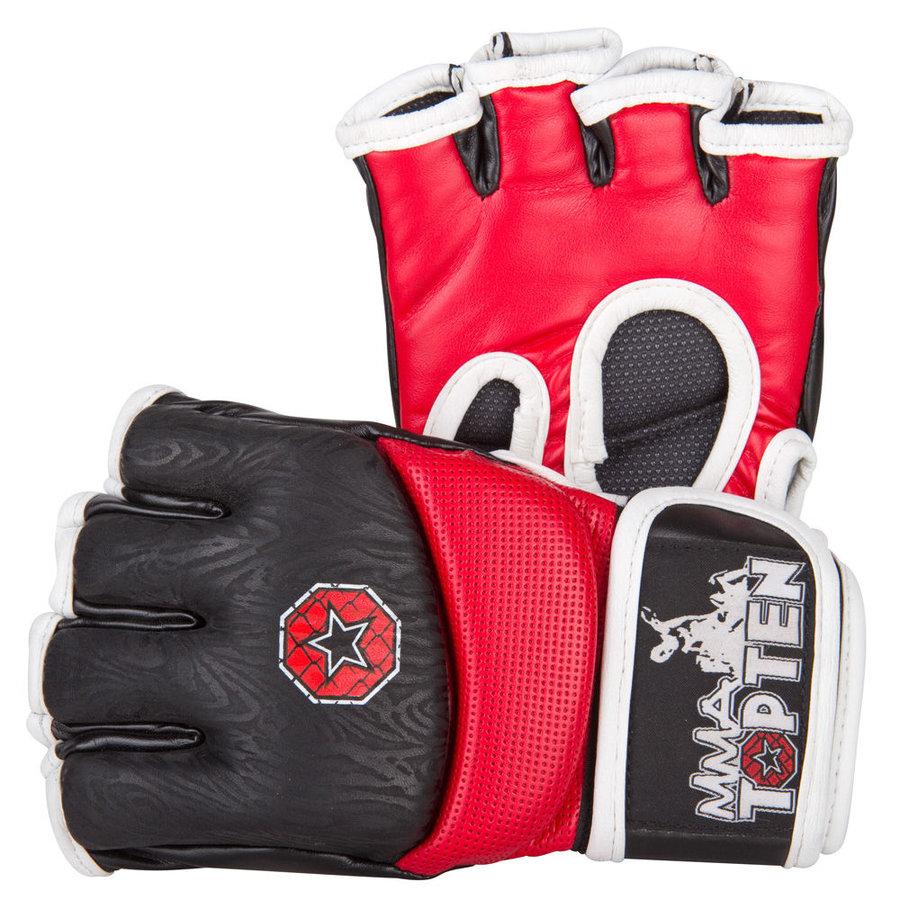MMA rukavice - Top Ten MMA rukavice Gel - červená/černá - červená - velikost L