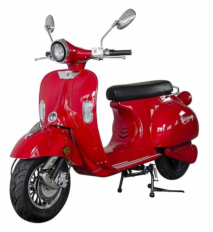 Červená elektrická motorka Century, Racceway