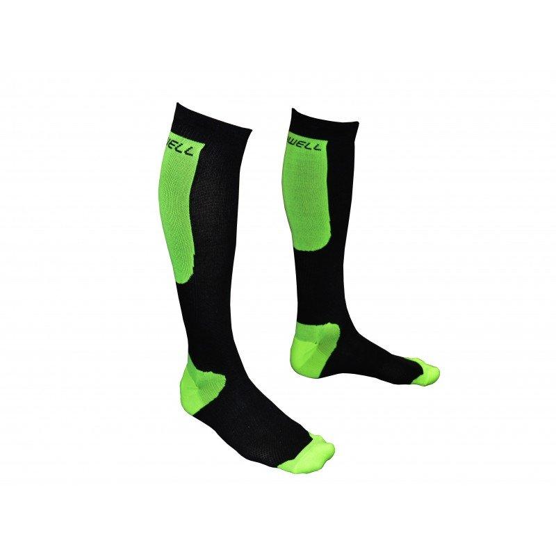 Černo-zelené kompresní podkolenky Winnwell