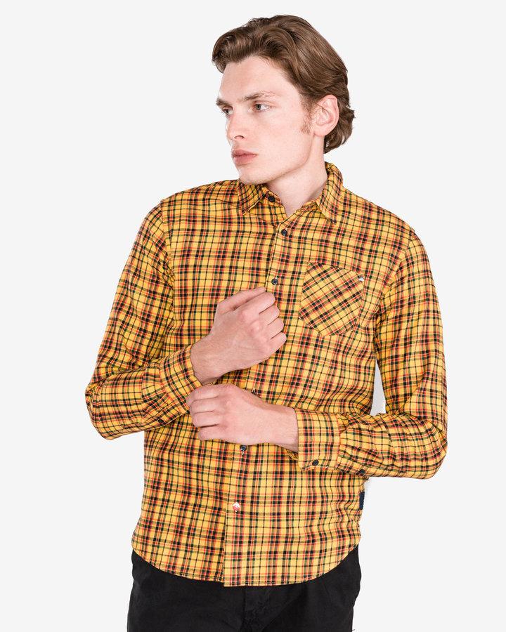 Žlutá pánská košile s dlouhým rukávem Scotch & Soda