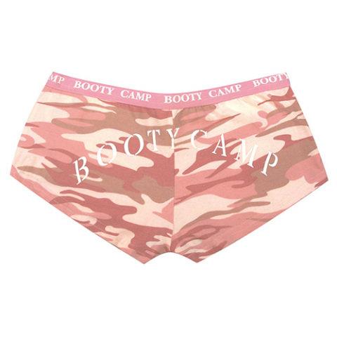 Kalhotky - Kalhotky BOOTY CAMP PINK CAMO BABY