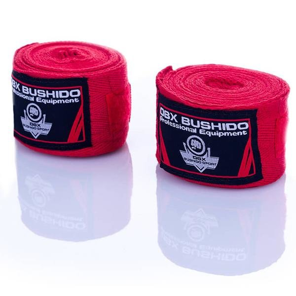 Červená boxerská bandáž Bushido - délka 4 m