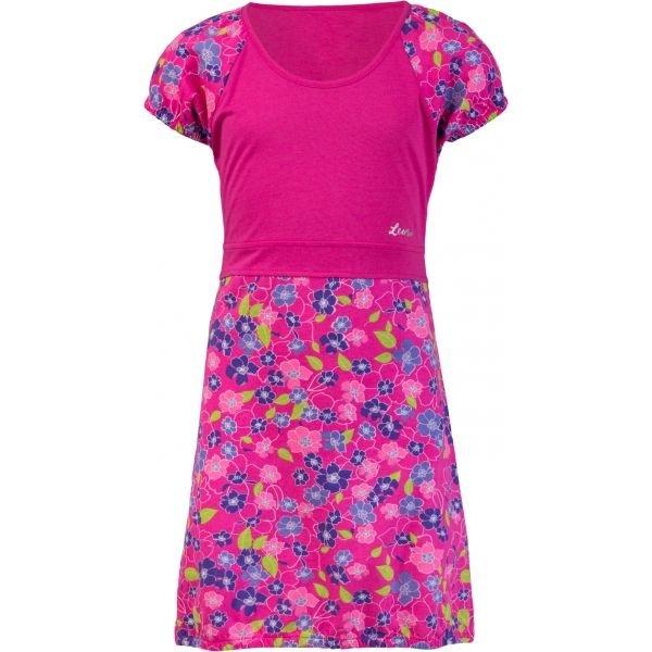 Růžové dívčí šaty Lewro - velikost 128