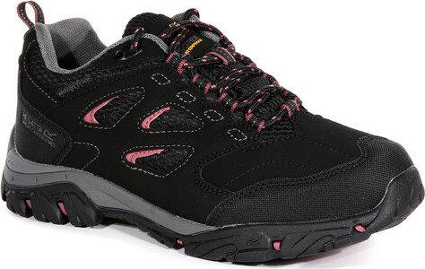 Černé nepromokavé dámské trekové boty Holcombe, Regatta