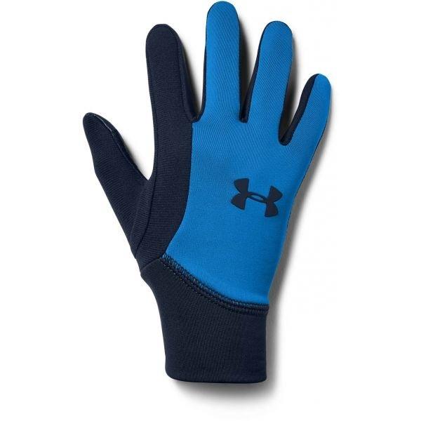 Modré dětské rukavice na běžky Under Armour
