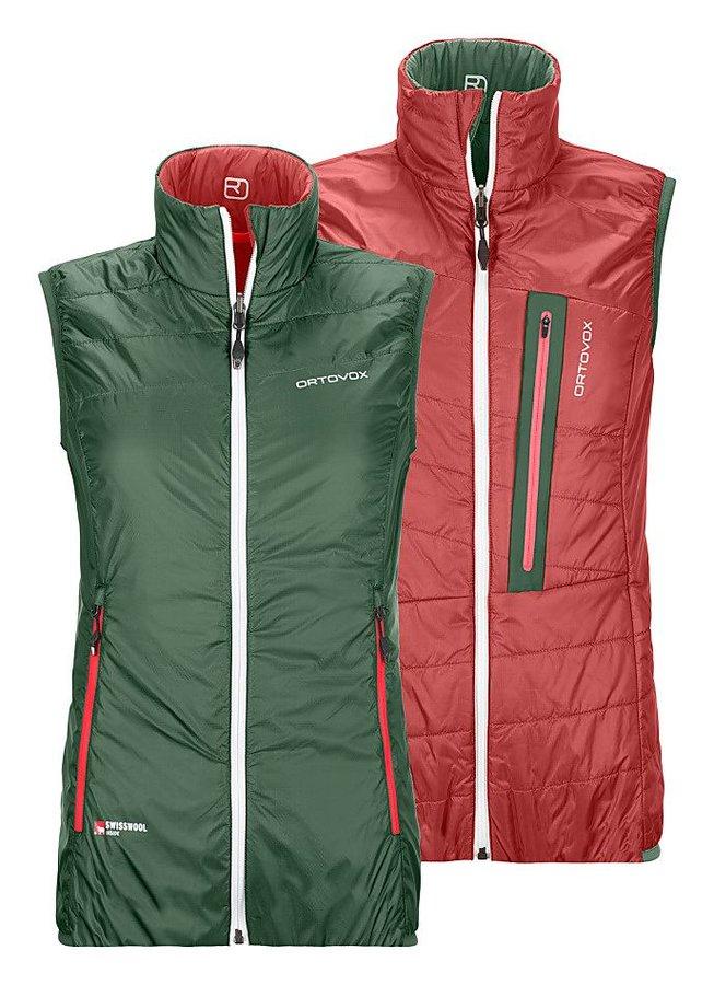 Červeno-zelená oboustranná dámská vesta Ortovox