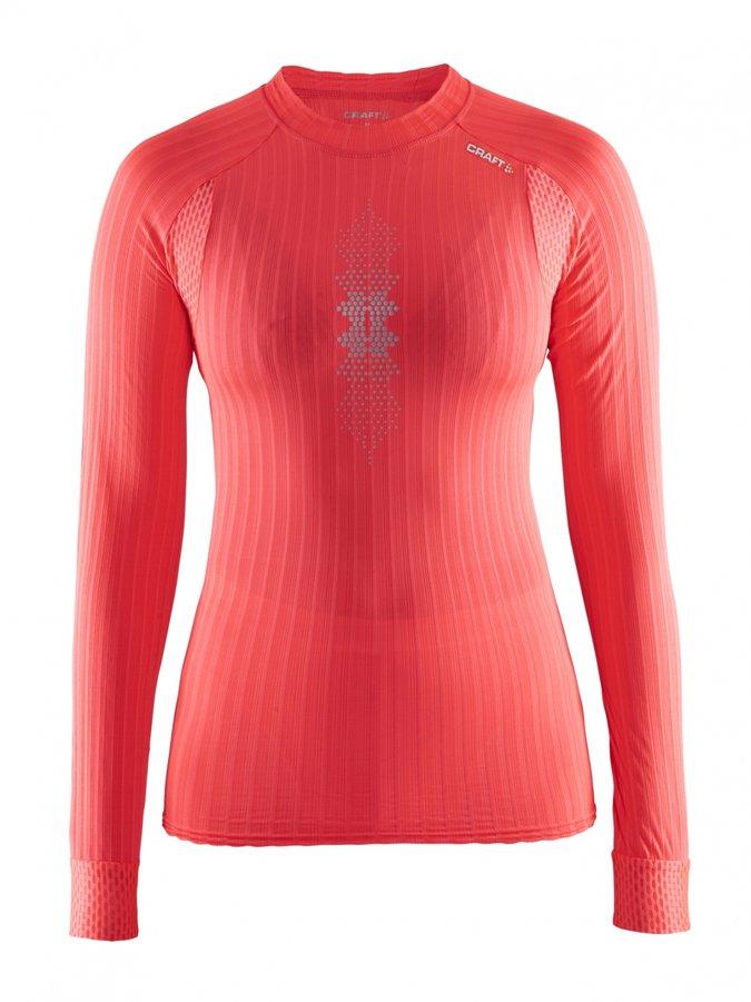 Oranžové dámské funkční tričko s dlouhým rukávem Craft - velikost XL