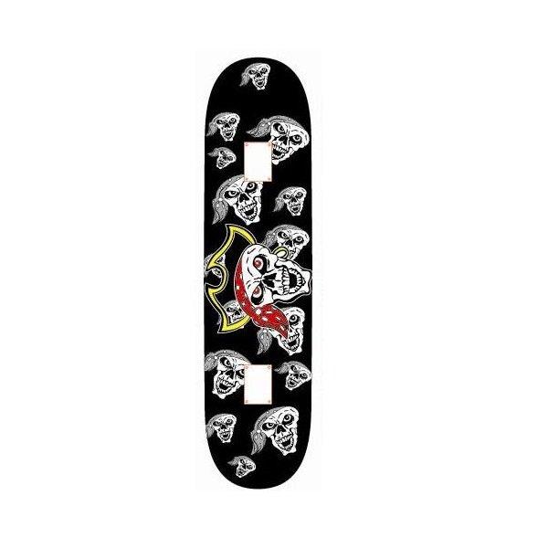 Různobarevný skateboard Spartan - délka 78 cm a šířka 20 cm
