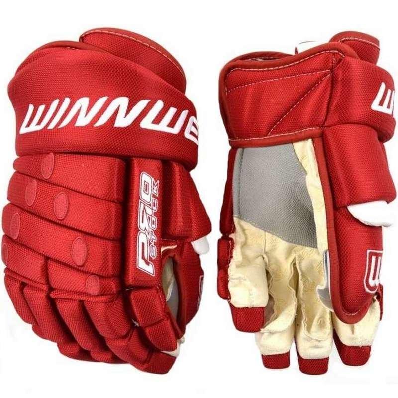 """Červené hokejové rukavice - senior Pro Stock, Winnwell - velikost 13"""""""
