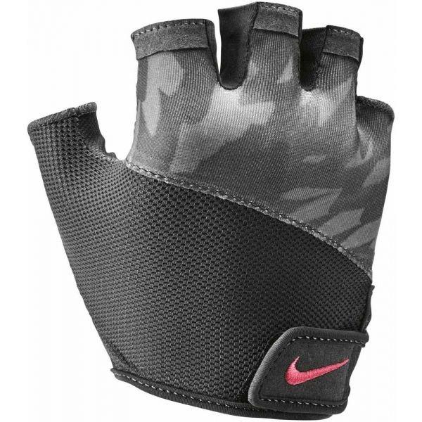 Černo-šedé dámské fitness rukavice Nike - velikost L