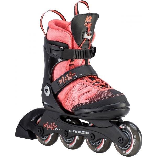 Černo-růžové dívčí kolečkové brusle K2 - velikost 32-37 EU