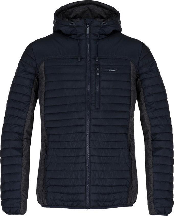 Modrá zimní pánská bunda s kapucí Loap - velikost S