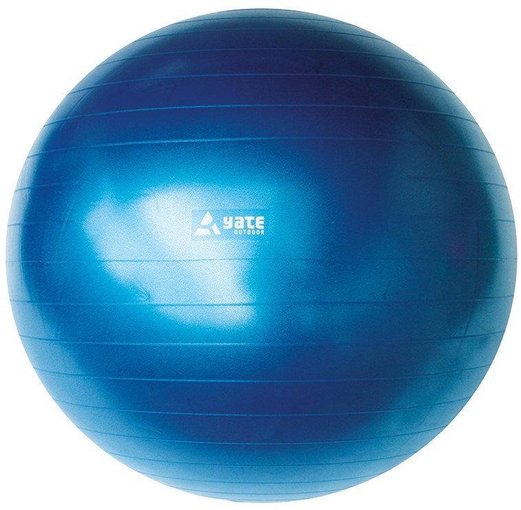 Modrý gymnastický míč s pumpou Yate - průměr 65 cm
