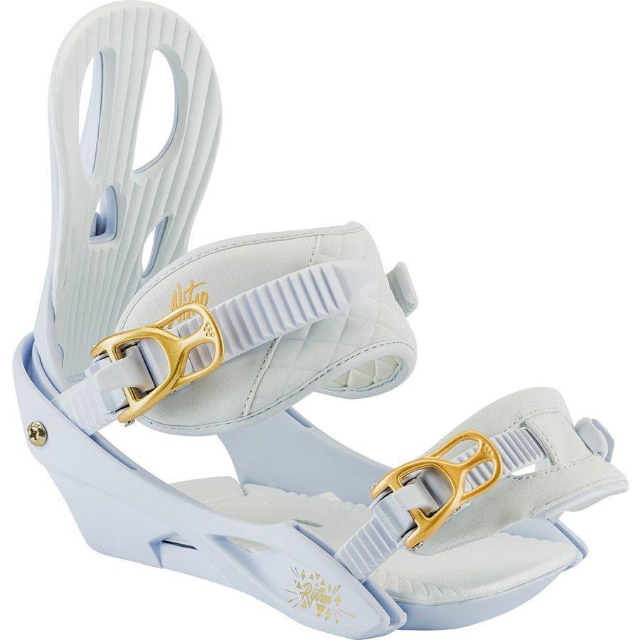 Bílo-zlaté vázání na snowboard Nitro - velikost S