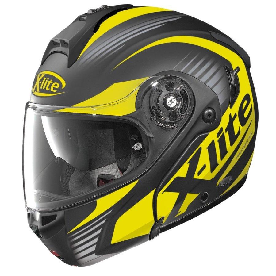 Černo-žlutá unisex helma na motorku X-1004 Nordhelle N-Com Flat, X-lite