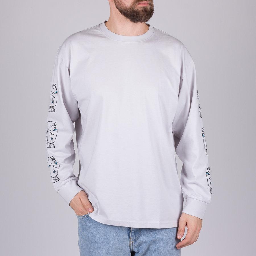 Šedé pánské tričko s dlouhým rukávem Head - velikost S