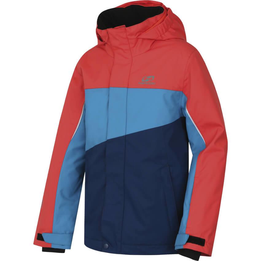 Červeno-modrá dětská lyžařská bunda Hannah