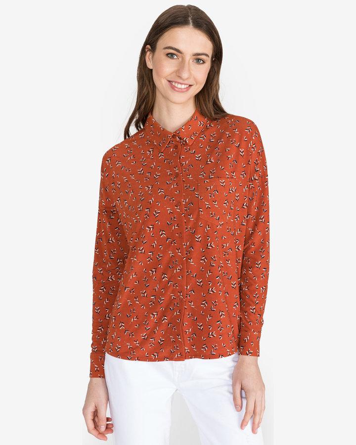 Oranžová dámská košile s dlouhým rukávem Vero Moda