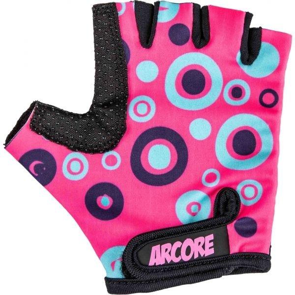 Růžové dívčí cyklistické rukavice Arcore