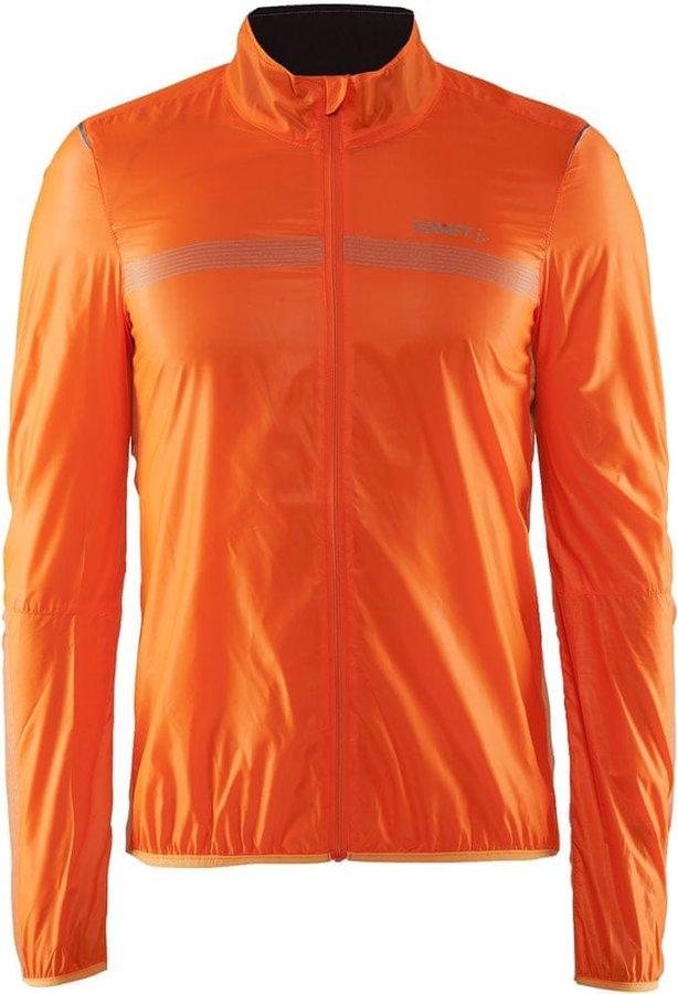 Oranžová pánská cyklistická bunda Craft