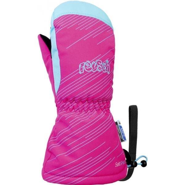 Růžové dívčí lyžařské rukavice Reusch