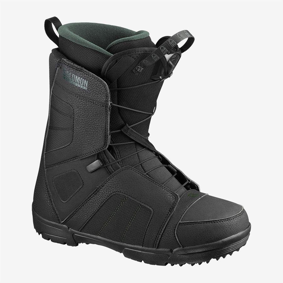 Černé boty na snowboard Salomon