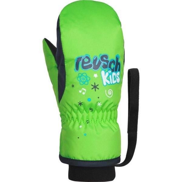 Zelené dětské lyžařské rukavice Reusch - velikost 1