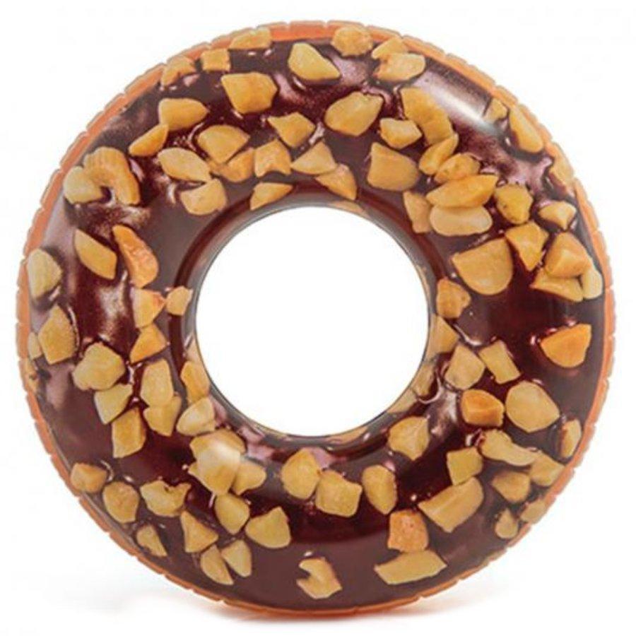 Hnědý nafukovací kruh Donut INTEX - průměr 114 cm