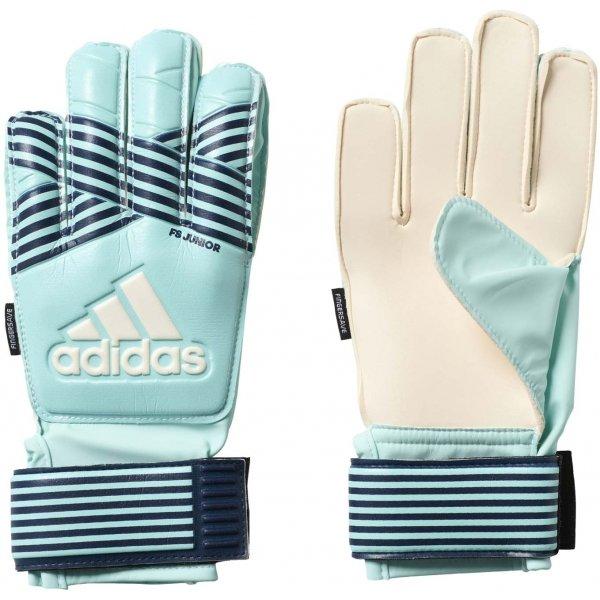 Modré chlapecké brankářské fotbalové rukavice Adidas