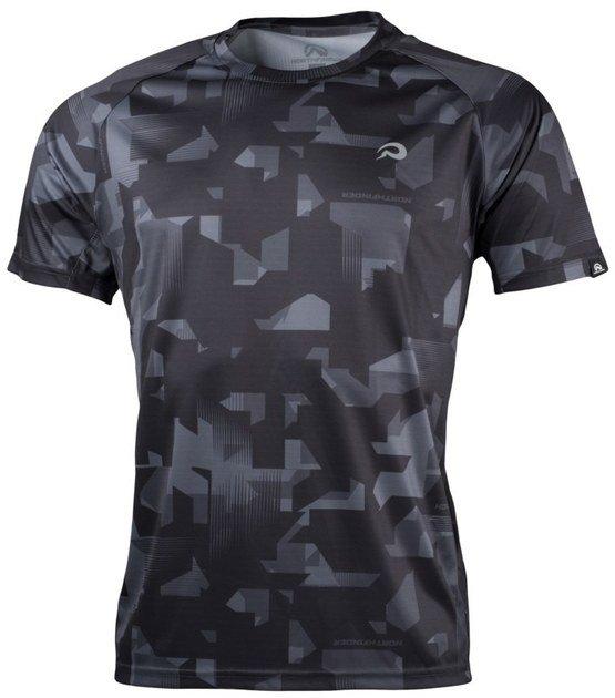 Černo-šedé pánské tričko s krátkým rukávem NorthFinder