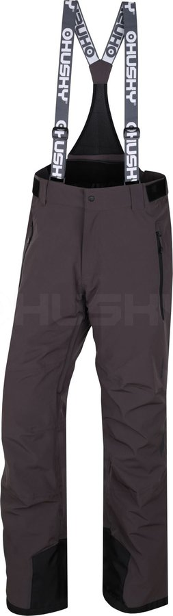 Šedé pánské lyžařské kalhoty Husky - velikost XXL