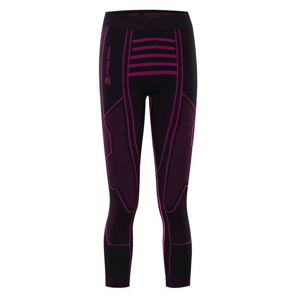 Černé 3/4 dámské funkční kalhoty Alpine Pro - velikost XL-XXL