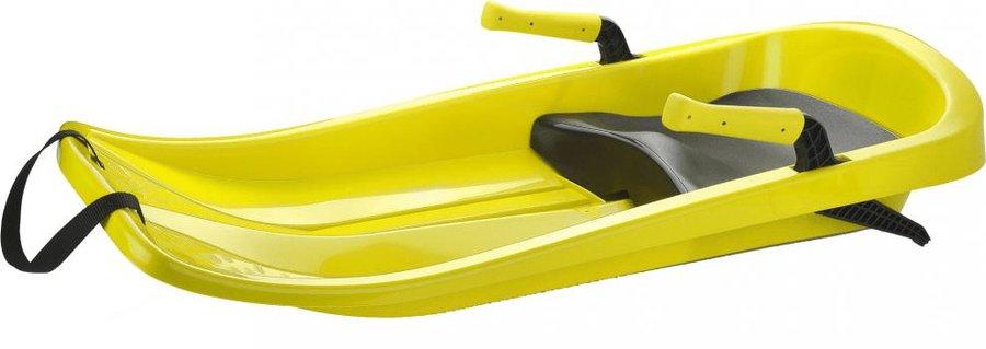 Žluté dětské boby s brzdami Plastkon