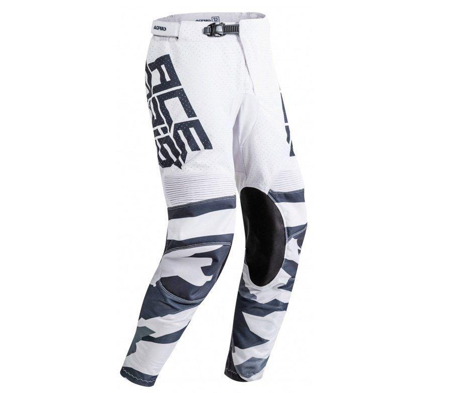 Bílé pánské motorkářské kalhoty Acerbis