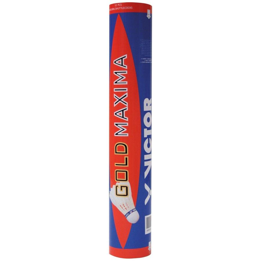 Péřový badmintonový míček s modrým pruhem Maxima, Victor - 12 ks