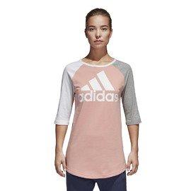 Šedé dámské tričko s krátkým rukávem Adidas - velikost XS