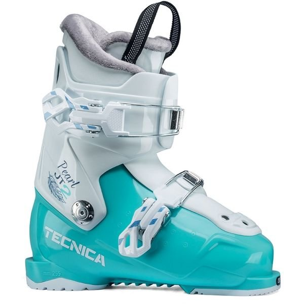 Bílo-modré dívčí lyžařské boty Tecnica - velikost vnitřní stélky 18 cm