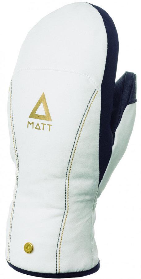 Bílé dámské zimní rukavice Matt