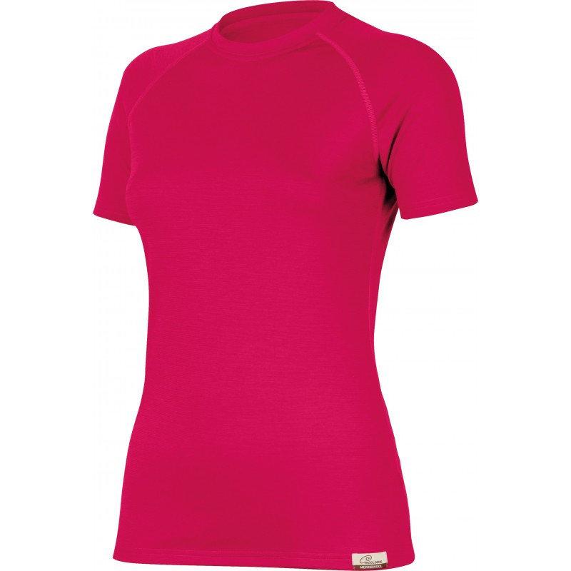 Růžové dámské funkční tričko s krátkým rukávem Lasting